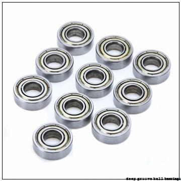 3,175 mm x 9,525 mm x 3,967 mm  ISO FR2 deep groove ball bearings